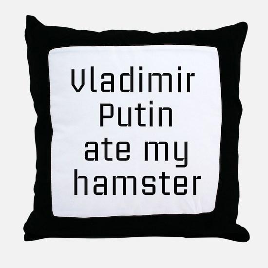 Putin_hamster Throw Pillow
