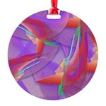 Tropical Feather Round Ornament