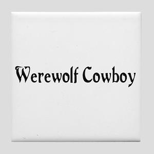 Werewolf Cowboy Tile Coaster