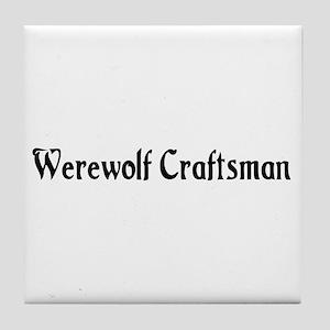 Werewolf Craftsman Tile Coaster