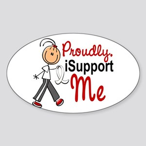I Support ME 1 (SFT LC) Oval Sticker