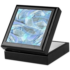 Blue Iced Feather Keepsake Box