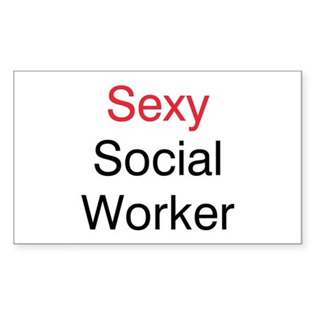Sexy Social Worker Rectangle Sticker