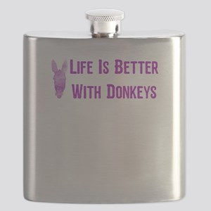 Life Is Better With Donkeys45 Flask