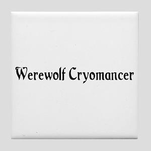 Werewolf Cryomancer Tile Coaster