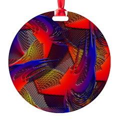 Brazen Bold Mesh Round Ornament