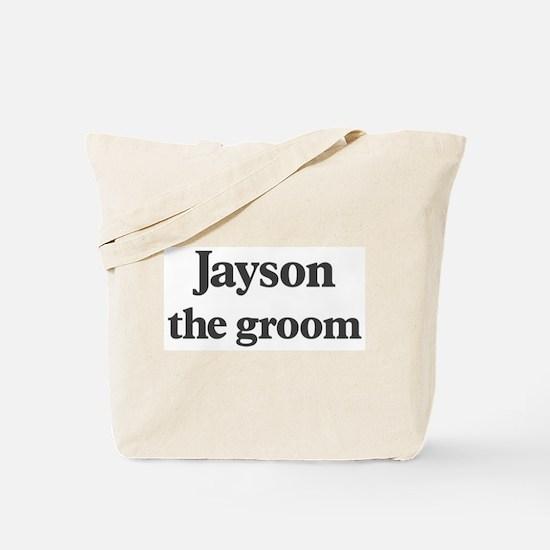 Jayson the groom Tote Bag