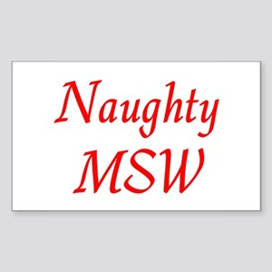 Naughty MSW Rectangle Sticker