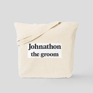 Johnathon the groom Tote Bag