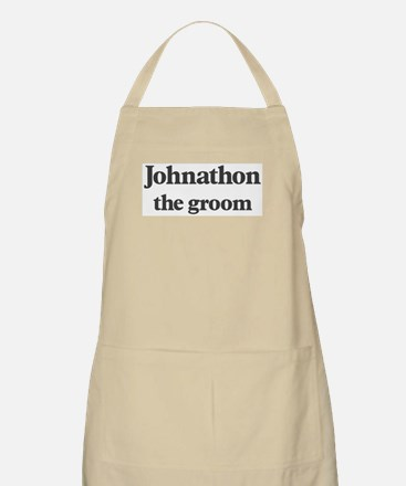 Johnathon the groom BBQ Apron