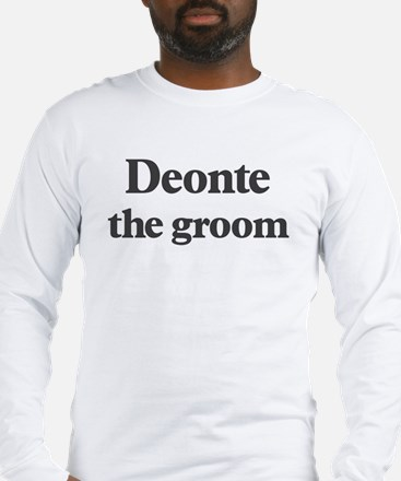 Deonte the groom Long Sleeve T-Shirt
