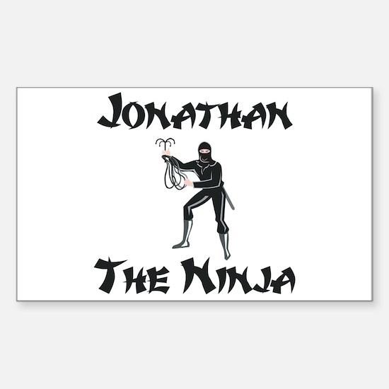 Jonathan - The Ninja Rectangle Decal
