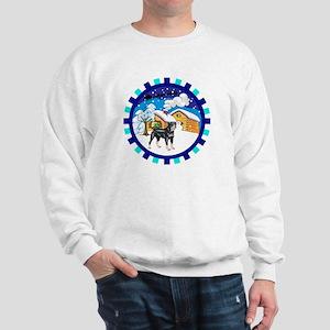 Log Cabin Rottweiler Sweatshirt