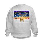 XmasSunrise/Wheaten #2 Kids Sweatshirt