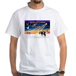 XmasSunrise/2 Cavaliers (t) White T-Shirt