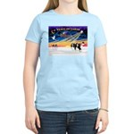 XmasSunrise/2 Cavaliers (t) Women's Light T-Shirt