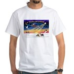 XmasSunrise/2 Silky Ter White T-Shirt
