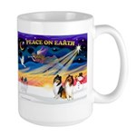 XmasSunrise/2 Collies Large Mug