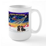 XmasSunrise/2 Dachshunds Large Mug