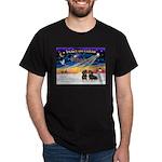 XmasSunrise/2 Dachshunds Dark T-Shirt