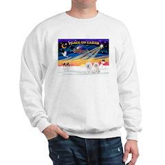XmasSunrise/2 Bichons Sweatshirt