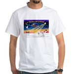 XmasSunrise/2 Bichons White T-Shirt