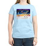 XmasSunrise/2 Bichons Women's Light T-Shirt