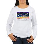 XmasSunrise/2 Bichons Women's Long Sleeve T-Shirt