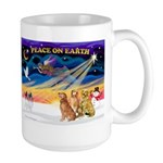 XmasSunrise/3 Goldens Large Mug