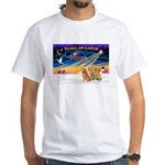 XmasSunrise/3 Goldens White T-Shirt