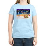 XmasSunrise/3 Goldens Women's Light T-Shirt