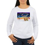 XmasSunrise/3 Goldens Women's Long Sleeve T-Shirt