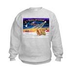 XmasSunrise/3 Goldens Kids Sweatshirt