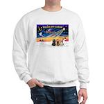 XmasSunrise/3 Cockers Sweatshirt