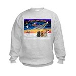 XmasSunrise/3 Cockers Kids Sweatshirt