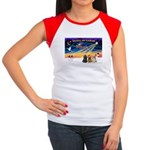 XmasSunrise/3 Cockers Women's Cap Sleeve T-Shirt