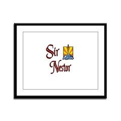 Sir Nestor Framed Panel Print