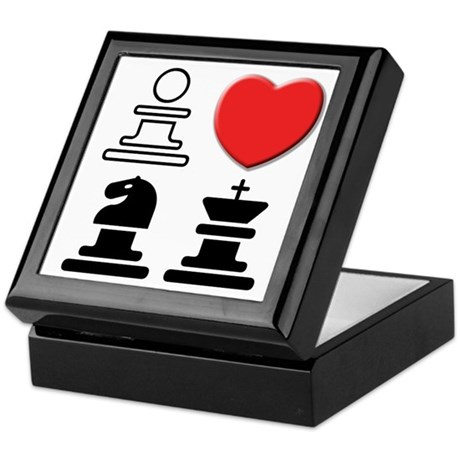 I LOVE CHESS Keepsake Box