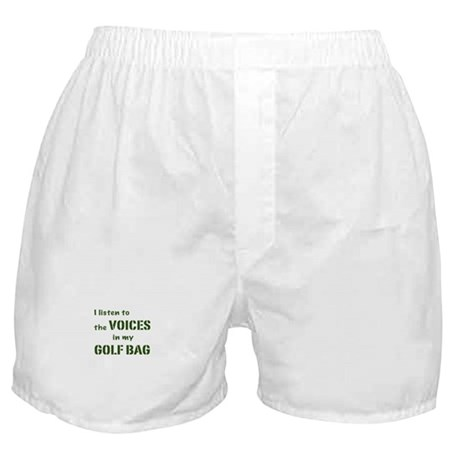 Voices in My Golf Bag Boxer Shorts