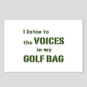 Voices in My Golf Bag Postcards (Package of 8)