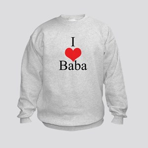 I Love (Heart) Baba Kids Sweatshirt