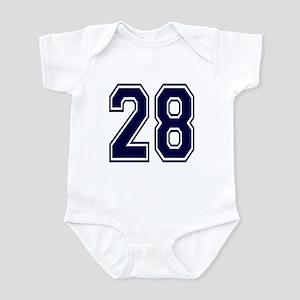 NUMBER 28 FRONT Infant Bodysuit