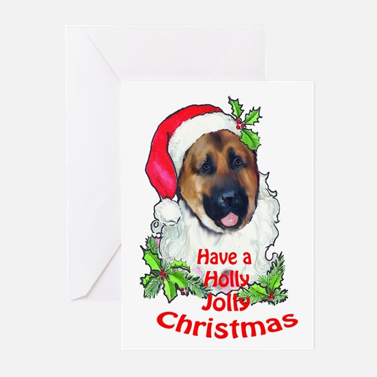 Santa shepherd Greeting Cards (Pk of 10)