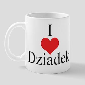 I Love (Heart) Dziadek Mug