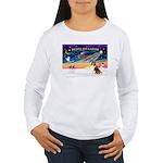 XmasSunrise/Sheltie #7 Women's Long Sleeve T-Shirt