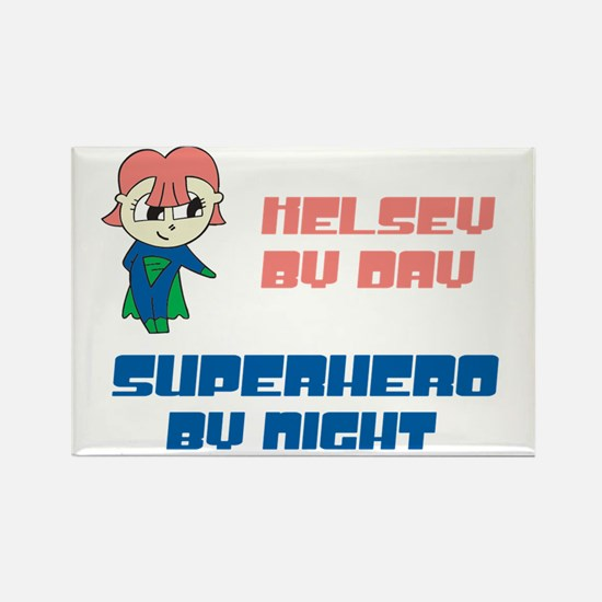 Kelsey - Super Hero by Night Rectangle Magnet