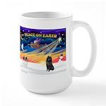 XmasSunrise/Schipperke #1 Large Mug