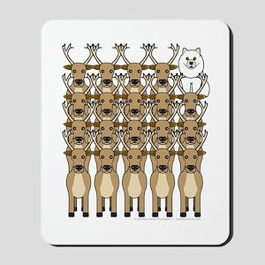 Samoyed and Reindeer Mousepad