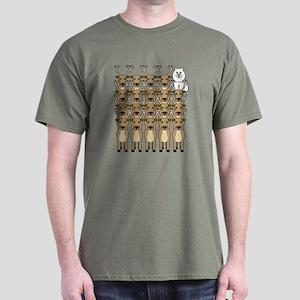 Samoyed and Reindeer Dark T-Shirt