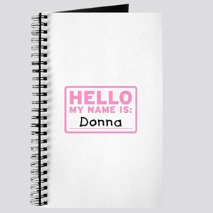 Hello My Name Is: Donna - Journal
